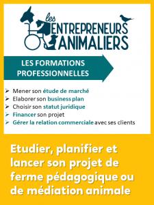 Formation Etudier, planifier et lancer son projet de pédagogie ou de médiation animale