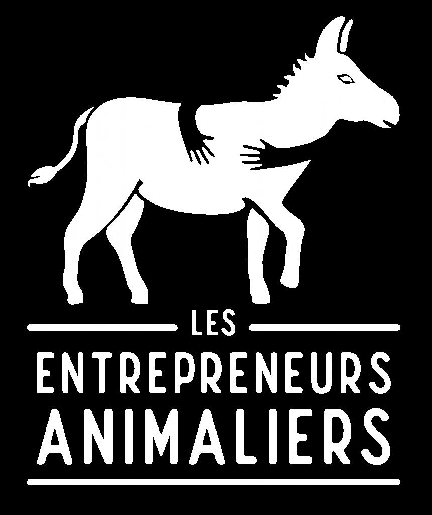Logo blanc Les Entrepreneurs Animaliers