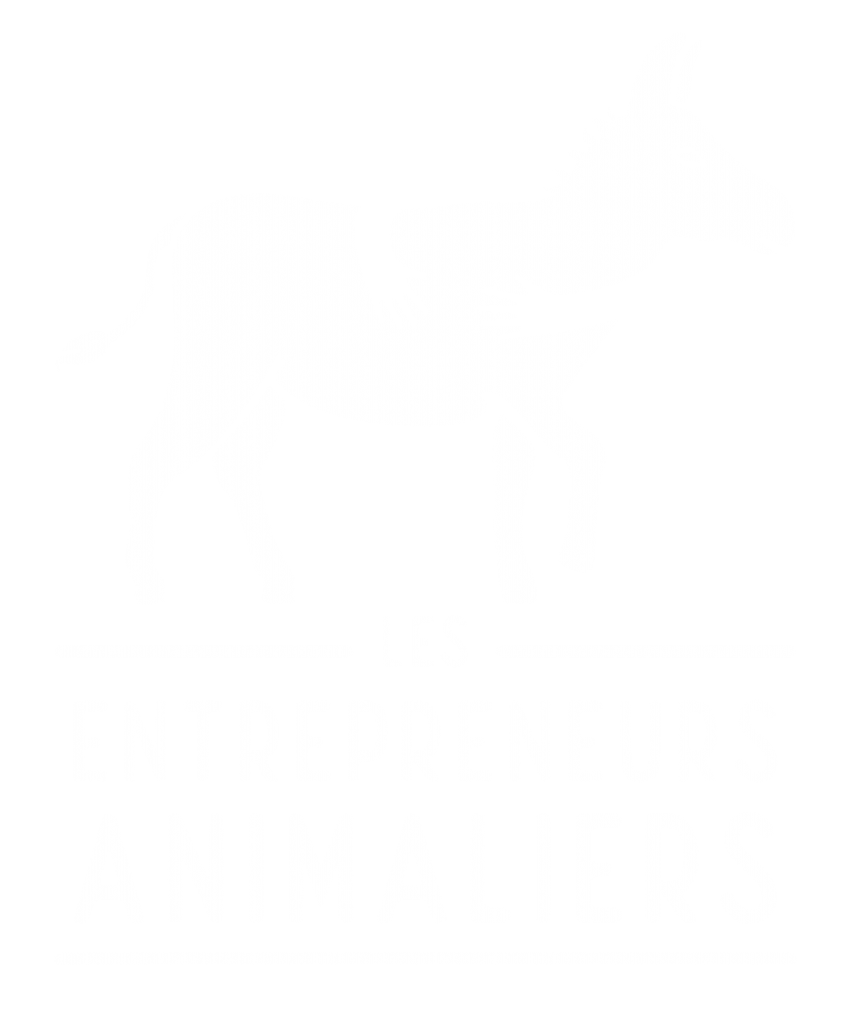 logo les entrepreneurs animaliers - blanc